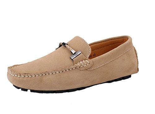 Conduite Icegrey Enfiler Appartements Cuir Flâneur Chaussures Loafers Suedé à de Kaki Hommes Mocassins Casual Bateau ByyrUaX