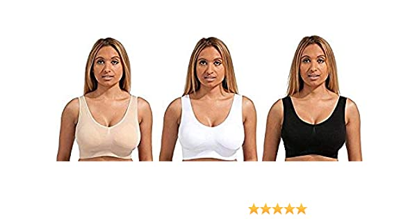 10de32d07d8 Marielle Ultimate Comfort Bra-3 Pack Large at Amazon Women s Clothing store