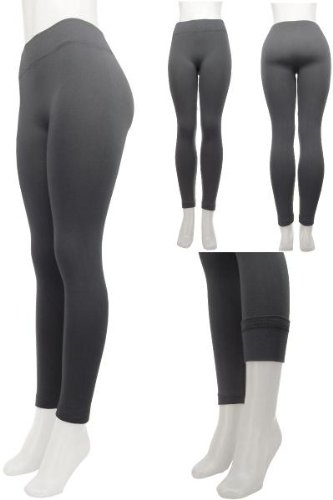 Fleece Lined Leggings in Charcoal Grey from DDI