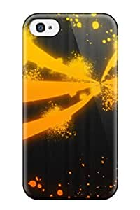 Flexible Tpu Back Case Cover For Iphone 4/4s - Orange