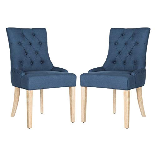 Safavieh Mercer Collection Abby Steel Blue Tufted Side Chair (Set of 2), 19