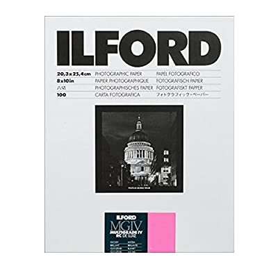 Ilford Multigrade IV RC Deluxe Resin Coated VC Paper, 8x10, 100 Pack (Glossy) by Ilford