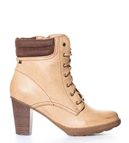 Maria Mare - Botines Miraza Beige-Altura tacón: 7,5cm- - 68666 - Talla 40: Amazon.es: Zapatos y complementos