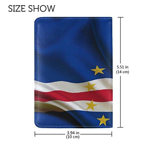National Flag Republic Cape Verde Leather Passport Holder Cover Case Travel One Pocket by Fenda (Image #1)