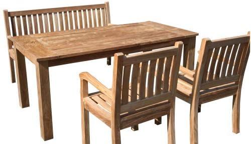 Juego de muebles de jardín de madera de teca Westerland: Amazon.es: Jardín