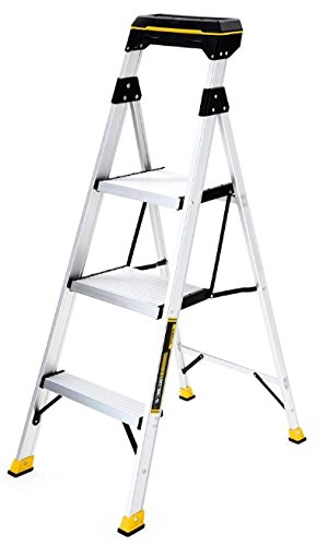 Gorilla Ladders 4 5 Ft Aluminum Hybrid Ladder With Compact Tray With 250 Lb Load Capacity Type I Duty Rating Stepladders Amazon Canada