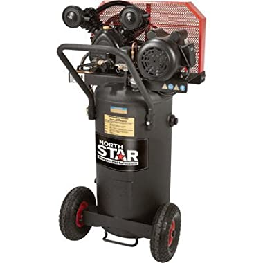 NorthStar Belt Drive Single-Stage Portable Air Compressor - 2 HP, 20-Gallon, Vertical, 5.0 CFM