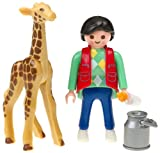 Playmobil Baby Giraffe with Zookeeper
