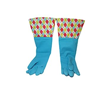 Brighten Up Reusable Latex Cleaning Gloves For Bathroom, Drain, and House Cleaning, Colors Vary