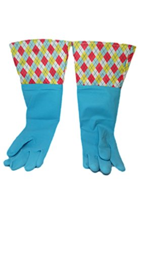 Brighten Up Reusable Latex Cleaning Gloves For Bathroom Drain And House Cleaning Colors Vary 72 Pack