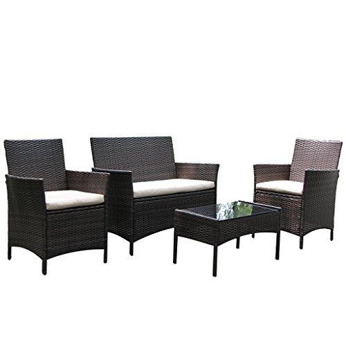 Rattan Coffee Table Dubai: Outdoor Wicker Patio Furniture Set Wicker Chairs And Glass