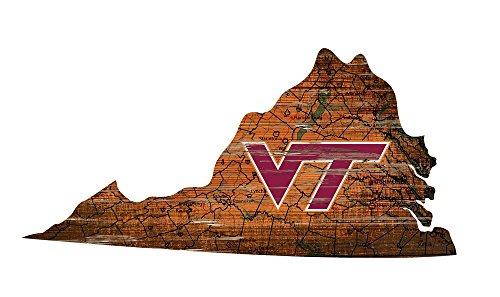 Fan Creations Virginia Tech University Cutout Sign (State), Multi