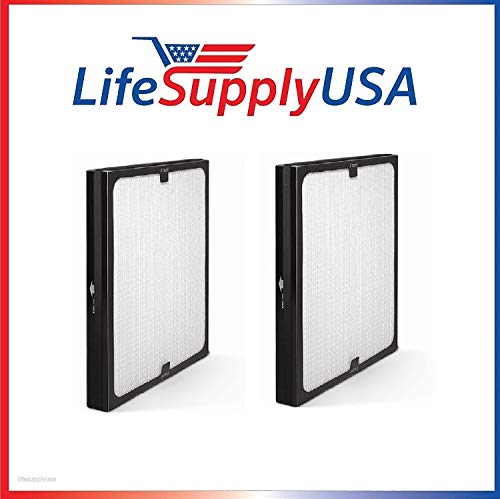 LifeSupplyUSA 2 Pack Replacement Air Purifier Filters fit ALL Blueair 200 & 300 Series Models 201, 210B, 203, 250E, 200PF, 201PF