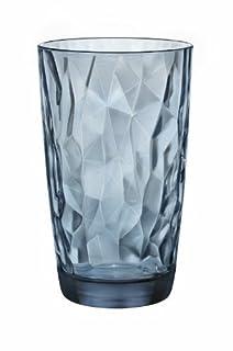 Bormioli Rocco Diamond Cooler Glasses, Ocean Blue, 16 oz, Set of 6 (B00B97TYA0) | Amazon price tracker / tracking, Amazon price history charts, Amazon price watches, Amazon price drop alerts