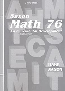 Saxon math 76 special populations workbook master adaptations saxon math 76 home school tests fandeluxe Gallery