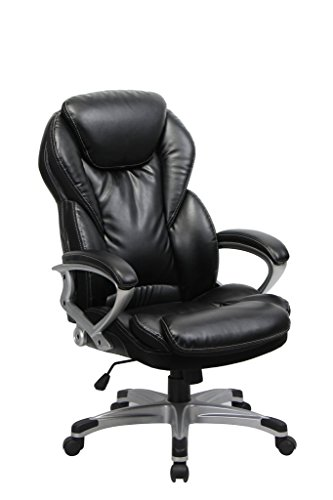VIVA OFFICE Ergonomic Office Chair Executive Bonded Leather Computer chair High Back with Cushioned Seating, Black