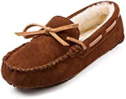SUNROLAN Casual Women's Suede Leather Driving Moccasins Slip-On Penny Loafers Boat Shoes F