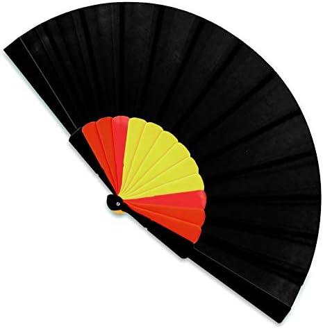 Lote DE 15 ABANICOS Bandera ESPAÑA-Negro ECONOMICOS PERFECTOS para Regalo: Amazon.es: Hogar