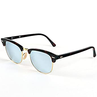 991ea84623 Ray-Ban Clubmaster Tortoise Shell Sunglasses with Silver Mirrored Lenses
