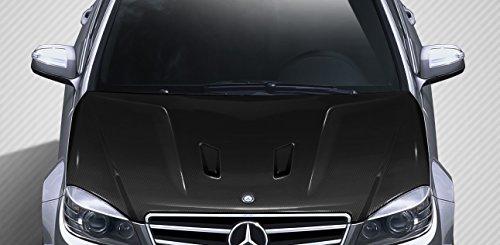 Carbon Creations ED-RVQ-950 Black Series Look Hood - 1 Piece Body Kit - Fits Mercedes C Class 2008-2011