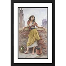 The Watercarrier 25x29 Framed and Double Matted Art Print by Blaas, Eugene de