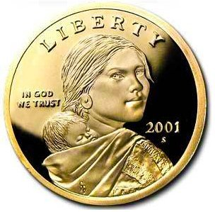 - 2001 S Sacagawea Native American Proof US Coin DCAM Gem Modern Dollar $1 $1 Proof DCAM US Mint