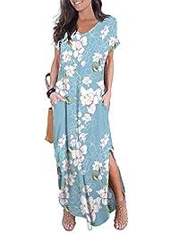 GRECERELLE Women's Casual Short Sleeve Dress