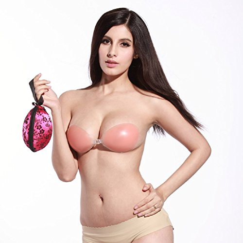 Sandistore Invisible Bra Admission Package Case Bag Storage Box (Hot Pink)