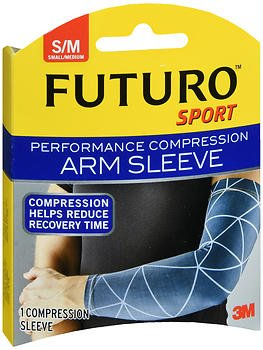 Futuro Sport Performance Compression Arm Sleeve Small/Medium - 1 ea, Pack of 6