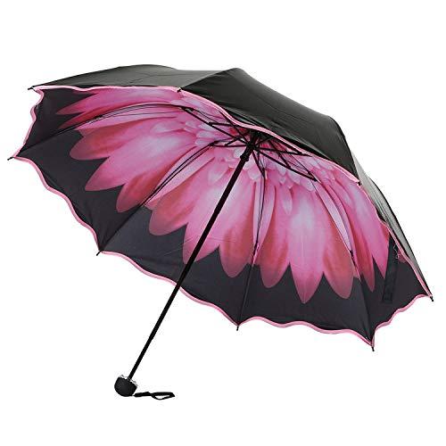Best Selling Windproof Reverse Folding Women Umbrella/Three-Fold Flowers Sunshine Double Strong Colourful Parasols,Wtx71227481Pk