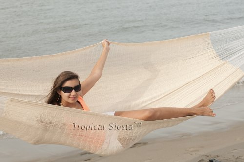Tropical Siesta Breezy Point Mayan Mexican Jumbo Hammock ()