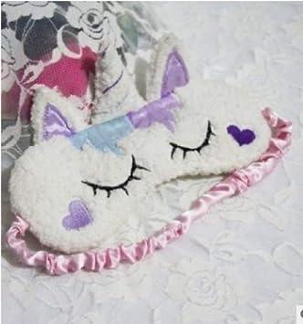 Máscara de viaje para dormir con diseño de unicornio morado ...