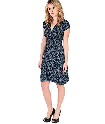 KRISP Vestido Mujer Casual Tallas Grandes Vestidos Cortos Flores Primavera Verano 2017 Turquesa