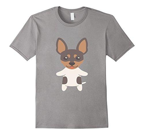 Mens Toy Fox Terrier T-Shirt American Toy Terrier Tee Shirt XL Slate