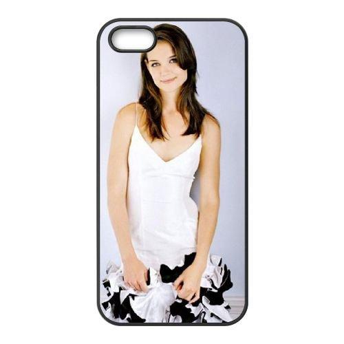 Katie Holmes White Dress coque iPhone 5 5S cellulaire cas coque de téléphone cas téléphone cellulaire noir couvercle EOKXLLNCD25121