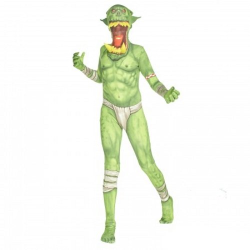 Morphsuits Kids Green Orc Monster Costume - Large 4'-4'6 / 10-12 Years -