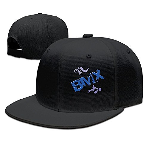 Unisex BMX Riders Bike Extreme Sports Snapback Flat Cap Peak Fit Hat - Bmx Hats