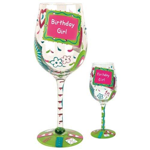 Lolita Glassware Birthday Girl Giant Wine Glass (GLS19-5511B), (Giant Wine Glass Decoration)