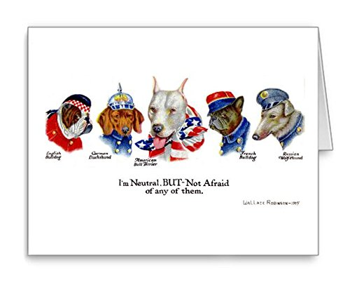 - Patriotic Pit Bull WWI Note Cards Set of 8 with Envelopes