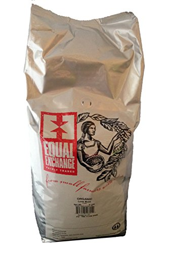 Equal Exchange Organic Love Buzz Bulk Coffee, 5 Pound 1 Contains 1 bag, 5 ILB per bag TASTE: Favorite Dark and Smoky Blend that has Sweet Velvety Layers of Mola sses, Toasted Marshmallow, Walnut ROAST: Blend of French & Full City Roasts