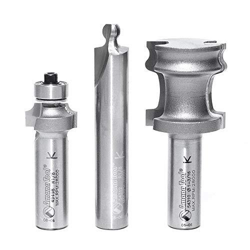 Amana Tool - 54314 3Piece Carbide Tipped Tambour Door/Appliance Garage Door 1/2