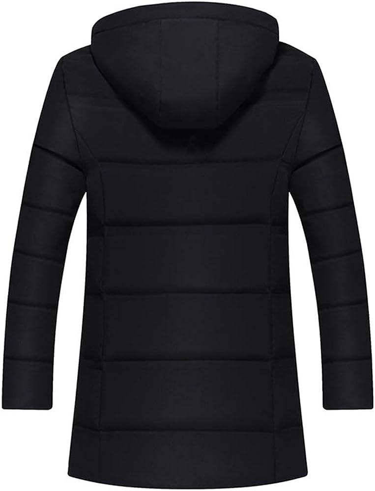 Veste en Duvet d'hiver légère pour Hommes, vêtements de Mode, Veste Chaude avec Capuche Black