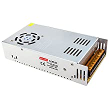 LANIAKEA AC to DC Power Supply / Output: 24V 15A 360W / Input Selectable: 100-120V 60HZ or 200-220V 50HZ, With Cooling Fan & Aluminum Shell