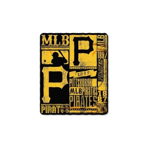 y MLB Pittsburgh Pirates Strength Printed Fleece Throw, 50-inch by 60-inch (Pittsburgh Pirates Team Fleece)