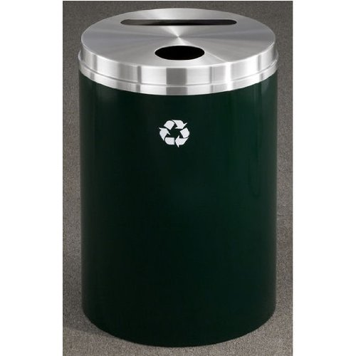 Receptacle Recycle Glaro (Glaro RecyclePro Matching PC Cover Dual Purpose Recycle Receptacle in Burgundy Finish, Shown in Hunter Green with Many Other Finishes Available)