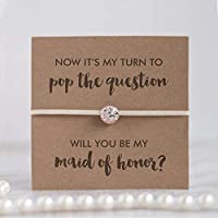 Will you be my maid of honor bracelet, Asking maid of honor gifts, maid of honor gift, Ivory
