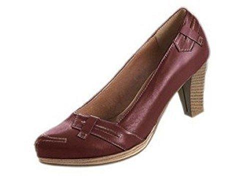 De Cuero Chocolate Marrón Zapatos Mujer Conti Pumps Vestir Para Andrea w1xt4qc