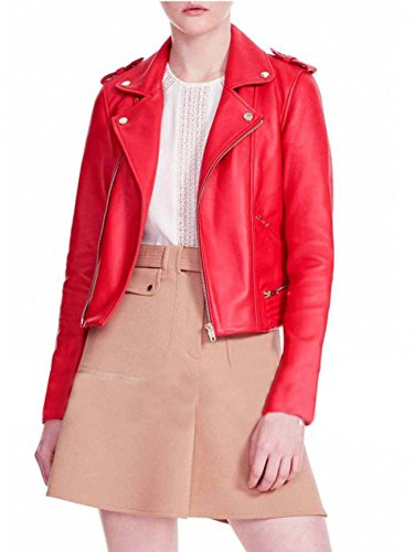 Donna Giacca Leather Smoke Red Faux 5Ewn4xqRS
