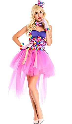 Moonight Circus Sweeties Tutu Lulu the Clown Costume (One Size, (Lulu The Clown)