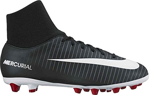 Nike Unisex-Kinder Jr. Mercurial Victory 6 Df Ag-Pro Fußballschuhe Schwarz (Black/White-Dark Grey-University)